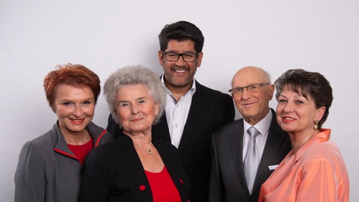 Familie Klinck mit Dieter Bonk
