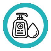 Desinfektion Symbol bei Klinck Dein Friseur