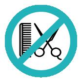 keine Trockenhaarschnitte Symbol bei Klinck Dein Friseur